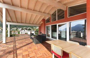 terrasse et véranda ombragées